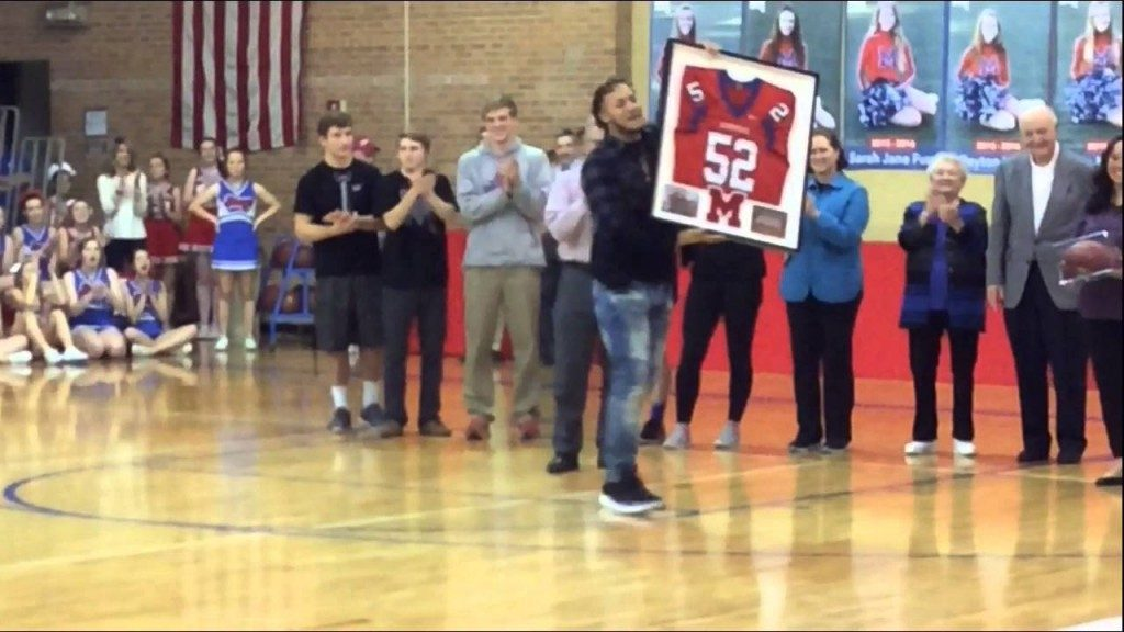 Retiring Jersey #52, Shane Ray, Bishop Miege High School