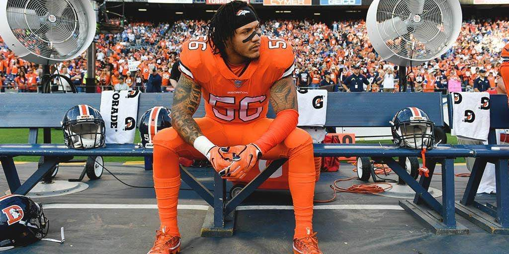 #56 Shane Ray, Denver Broncos, Bleeds Orange