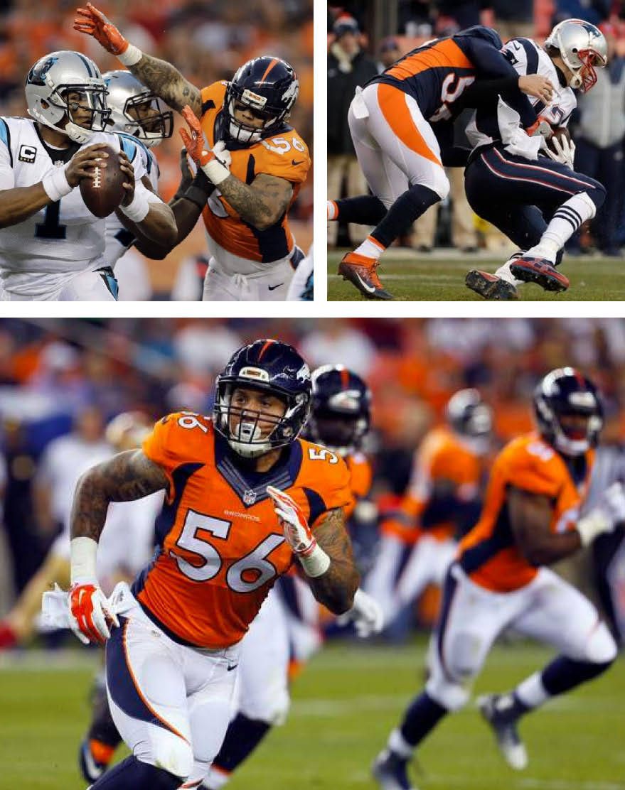 Shane Ray #56 Denver Bronco Linebacker, Centurion Strategies