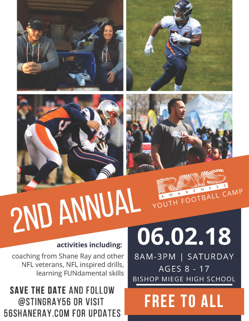 2018 Shane Ray's Youth Fundamentals Football Camp